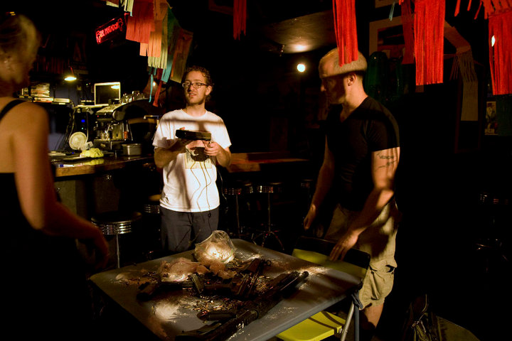 Vvinni on the Set of Pig Death Machine