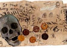Skull eats cookies