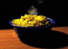 There's something wrong with these noodles, and it'll take a cat to figure out what it is.