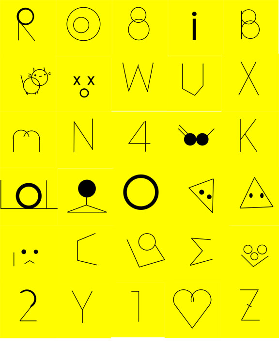 The Emoticonal Letterglyphs